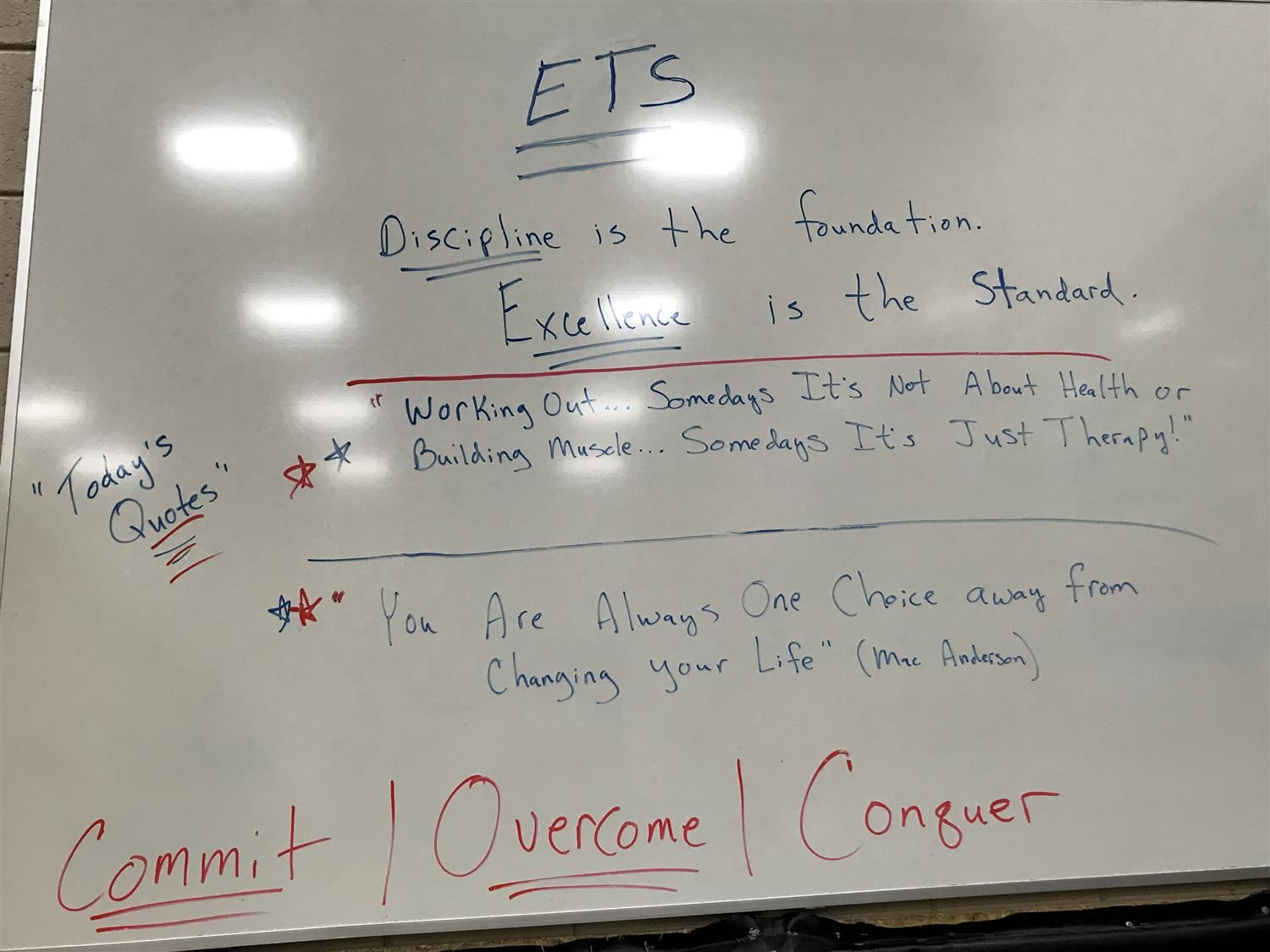 ETS white board instructions