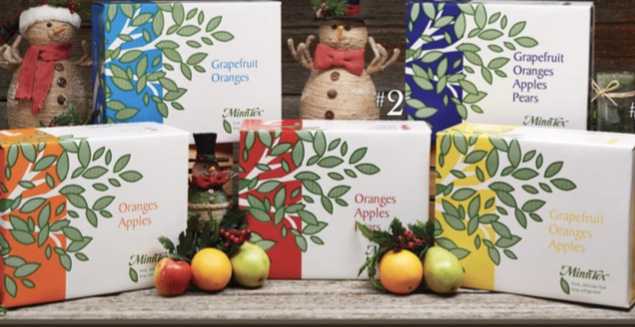 Holiday boxes of fruit