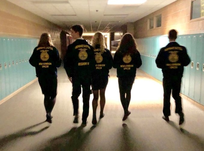 FFA Members Walking the Halls